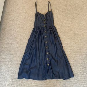 Long denim dress from urban outfitters!